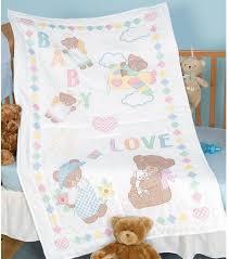 Jack Dempsey Needle Art Baby Love Bears Crib Quilt Top - Stamped ... & Baby Love Bears Crib Quilt Top - Stamped Cross Stitch Kit Adamdwight.com