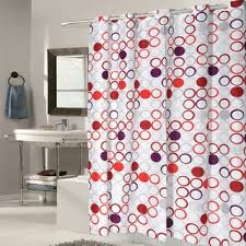 grey and red shower curtain. ez on boho fabric with built in hooks shower curtain grey and red