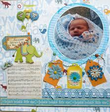 Welcome New Baby Scrapbook Scrap Ideas Boy Paper First Year Shower
