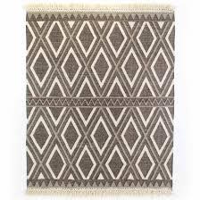 grey cream diamond flatweave rug 9x12