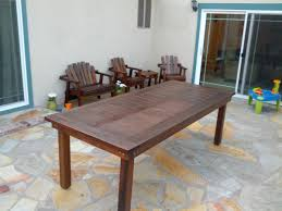 Oversized Redwood Heavy Duty Outdoor Dining Table Ana White