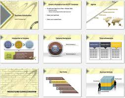 Company Overview Templates Powerpoint Wall Intro Template