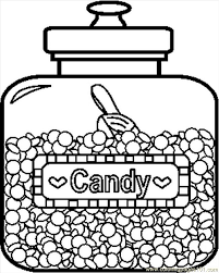 Small Picture Candyjar1bw Coloring Page Free Candy Coloring Pages
