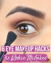 these eye makeup hacks will help fix mistakes and help you avoid starting from scratch