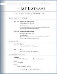 Downloadable Resume Templates Minimal Resume With Free Download