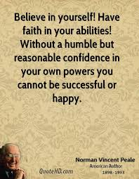 Having Faith In Yourself Quotes Best of Norman Vincent Peale Motivational Quotes QuoteHD