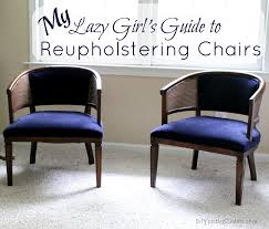 my lazy girl s guide to reupholstering chairs a tutorial