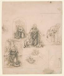 leonardo da vinci 1452 1519 essay heilbrunn timeline of art compositional sketches for the virgin adoring the christ child and out the infant st