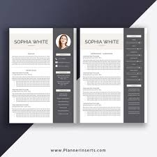 Microsoft Word Resume Template 2019 Cover Letter Job Resume Editable Modern Cv Template 1 3 Page Best Resume Design Instant Download Sophia