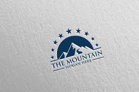 Mountaineering background peak flag climber icons cartoon design. Mountain Logo Design 5 520311 Logos Design Bundles In 2020 Mountain Logos Logo Design Vector Logo Design