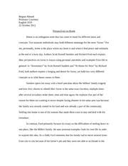 meaningful object essay begum ahmed professor courtney english 3 pages perspectives on home essay