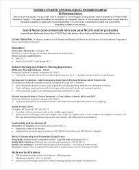 nursing student chronological resume example nursing student resume samples