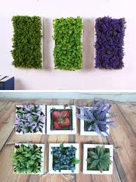 artificial simulation plant green grass wall decor