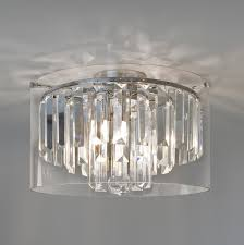 wonderful dome ceiling light makeover with crystals