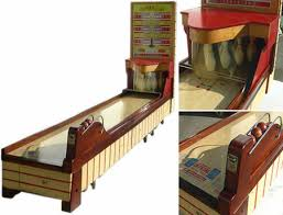 Antique Wooden Bowling Game 100's Bally ABC Bowling Lanes Arcade Game rolls in some retro fun 3