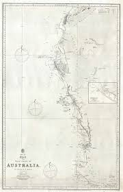 Australian Hydrographic Charts Sheet Viii Chart Of The West Coast Of Australia