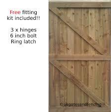 wooden garden gate wooden gate featheredge side gate all sizes heavy duty