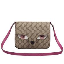 gucci bags for girls. gucci - girls beige \u0026 pink cat face shoulder bag | childrensalon bags for