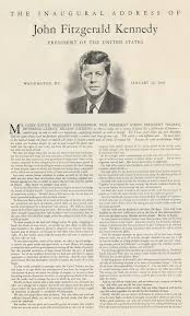 john f kennedy s inaugural address gilder lehrman  john f kennedy s inaugural address 1961 published as a poster ca 1970 gilder lehrman collection