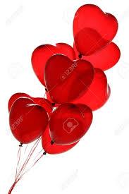 Ballons Coeur Rouge Sur Un Fond Blanc Banque D Images Et Photos