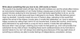yale essay the college admissions essay about papa johns pizza that