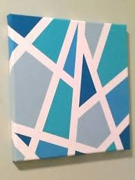 Easy DIY with masking tape, canvas, and acrylic paint