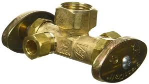 Brass Craft R1701dvx R Dual Outlet Shut Off Valve Pipes Amazoncom