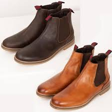 Chelsea boots with elastic gores in the sides and a loop front and back. Men S Leather Chelsea Boots Smart Casual Slip On Brown Ankle Boots Shoes Rydale Ebay