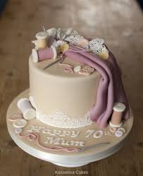Celebrity Birthday Cake Designs Sewing Inspired Cake For 70th Birthday By Sussex Based