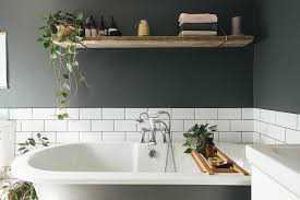 dark bathroom colour scheme for a small
