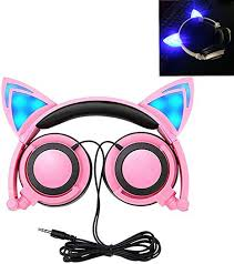 <b>Cat Ear Headphones</b>, Kids <b>Headphones Flashing Blinking</b>: Amazon ...