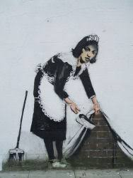 graffiti art through vandalism graffiti art by u k artist banksy