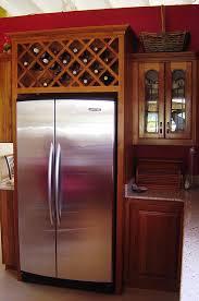wine rack above fridge Wine rack Wine and Kitchens
