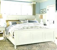 White Queen Bed Frame White Wood Bed Frame Queen Distressed Bed ...