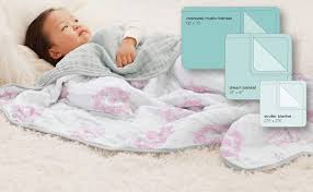 Aden Anais Dream Blanket 100 Cotton Muslin 4 Layer Lightweight And Breathable Large 47 X 47