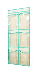 Anizer Over The Door Shoe Organizer Hanging Narrow Closet Door Shoe Storage Large Clear Pockets Chart 6 Pockets