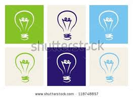 vector square blue icon lighting bulb. light bulbs vector icon set on green beige blue and navy background sign square lighting bulb r