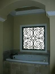 faux wrought iron window inserts for arched photo f
