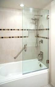 half glass shower door for bathtub modern with regard to 7