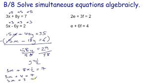 solve simultaneous equations excel tasty core maths skills revision b simultaneous equations how to solve on solve simultaneous equations excel