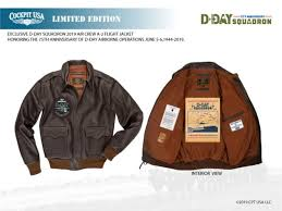 cockpit usa supports flight crews of d day squadron by offering custom a 2 leather jacket