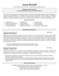 general contractor resume best template collection . job description actor