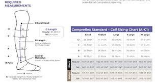 Compreflex Sizing Chart Amazon Com Compreflex 30 40 Mmhg Below Knee No Boot Low