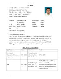 The Best Resume Sample Resume Sample Personal Background Danayaus 12