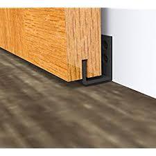 diyhd black wall mount adjule sliding barn door floor guide