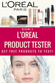 L Oreal Consumer Product Testing Panel