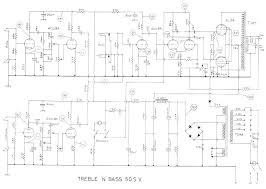 selmer tnb 50w sv amplifier schematic selmer treble n bass 50watt sv amplifier schematic wiring diagrams and operating instructions