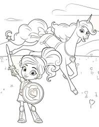 Nella The Princess Knight Coloring Pages Hoofardus