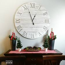 this giant wall clock was so easy with amy howard s pallet wall in a box