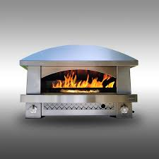 the outdoor gas pizza oven that cooks like a wood fired brick oven